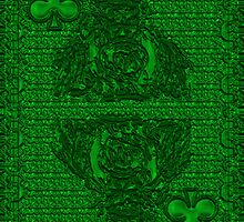 Green King of Clubs by RonMock