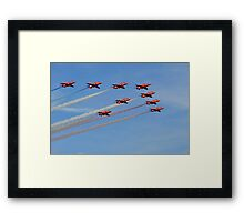 The Red`s Opening Pass Framed Print