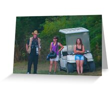 Shooting the Breeze - Photographers at Rest Greeting Card