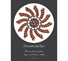 Dreamcatcher Mandala - Poster - Full-Color w/grey matte and Msg Photographic Print