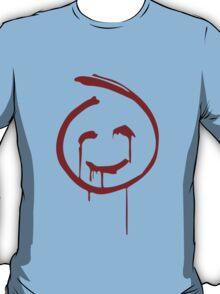 Red John Smiley Face   T-Shirt