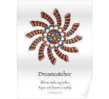 Dreamcatcher Mandala - Poster - Full-Color w/Msg Poster