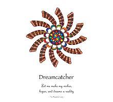 Dreamcatcher Mandala - Poster - Full-Color w/Msg Photographic Print