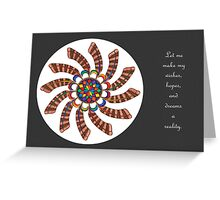 Dreamcatcher Mandala - Card - Full-Color w/grey matte and Msg Greeting Card