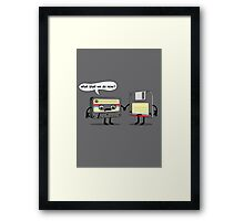 The Obsoletes (Retro Floppy Disk Cassette Tape)  Framed Print