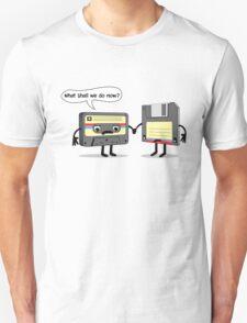 The Obsoletes (Retro Floppy Disk Cassette Tape)  Unisex T-Shirt