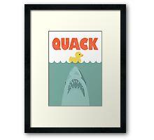 Jaws Rubber Duck 'Quack'  Framed Print