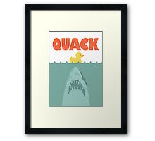 Jaws Rubber Duck 'Quack'  Framed Print