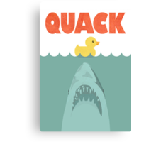 Jaws Rubber Duck 'Quack'  Canvas Print