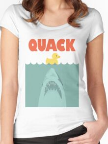 Jaws Rubber Duck 'Quack'  Women's Fitted Scoop T-Shirt