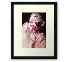 White and Blood II Framed Print