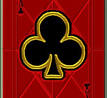 Glass Ace of Clubs by RonMock