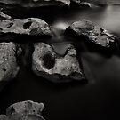 Rocks and Water (River Tees, Barnard Castle) by PaulBradley