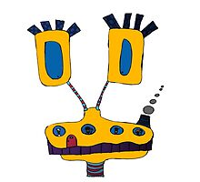 Yellow Giraffe by jblitlemonsters