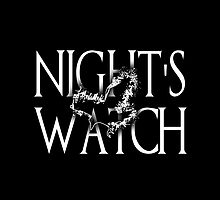 Night's Watch Typography by anemophile