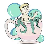 Tea cup and bubbles by Brandie Cammack