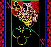 Neon Jack of Clubs by RonMock