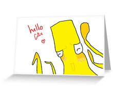 Yellow Squid: Hello Cutie Greeting Card