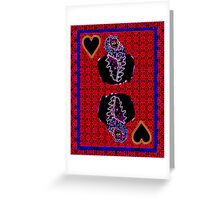Neon King of Hearts Greeting Card
