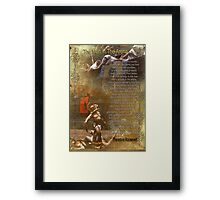 """""""The man in the arena"""" Poster , words by Theodore Roosevelt Framed Print"""