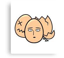 One Punch Egg, Saitama Once Punch Man Parody Canvas Print