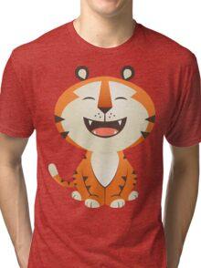 Funny Tiger Tri-blend T-Shirt
