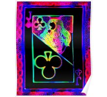 Double Neon Jack of Clubs Poster