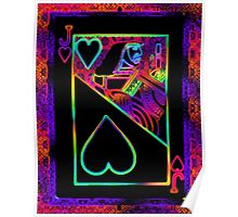 Double Neon Jack of Hearts Poster