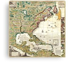 America Map 1773 Canvas Print