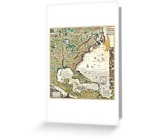 America Map 1773 Greeting Card