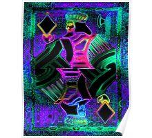 Double Neon King of Diamonds Poster