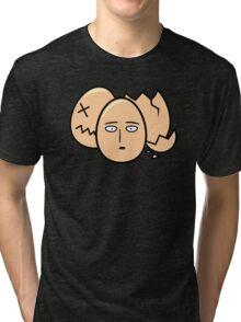 One Punch Egg, Saitama Once Punch Man Parody Tri-blend T-Shirt