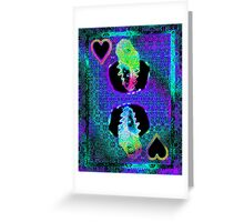 Double Neon King of Hearts Greeting Card
