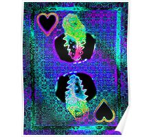Double Neon King of Hearts Poster