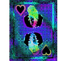 Double Neon King of Hearts Photographic Print