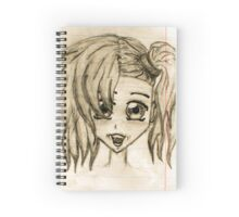 Pretty Anime Girl Spiral Notebook