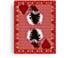 Fractil King of Hearts Canvas Print