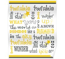 Twinkle Twinkle Little Star Poster Poster