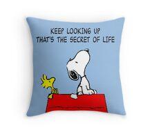 Snoopy Secret of Life Throw Pillow