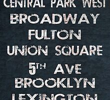 New York Poster by friedmangallery
