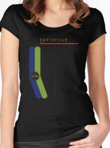 Davisville 1966 station Women's Fitted Scoop T-Shirt