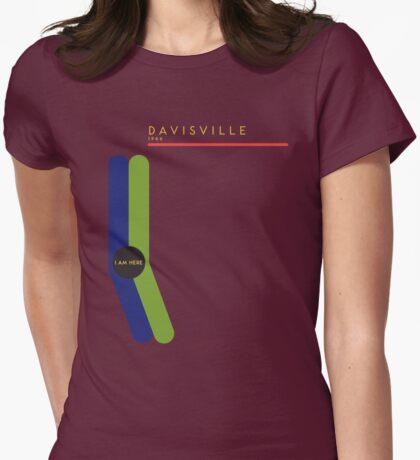Davisville 1966 station Womens Fitted T-Shirt