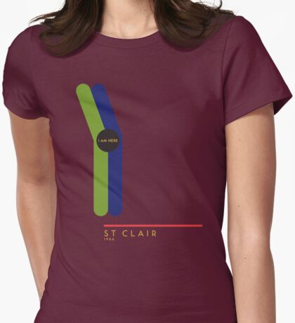 St. Clair 1966 station Womens Fitted T-Shirt