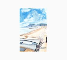 Boats on Sidmouth Beach. Unisex T-Shirt