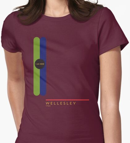 Wellesley 1966 station Womens Fitted T-Shirt