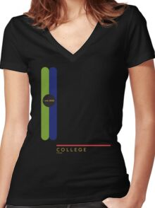 College 1966 station Women's Fitted V-Neck T-Shirt