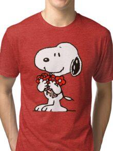 Snoopy Flowers Tri-blend T-Shirt