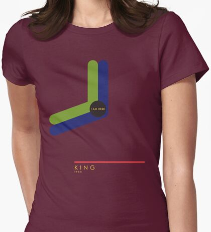 King 1966 station Womens Fitted T-Shirt