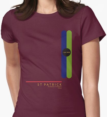 St. Patrick 1966 station Womens Fitted T-Shirt