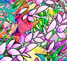 Floral Abstract Stained Glass by Medusa81